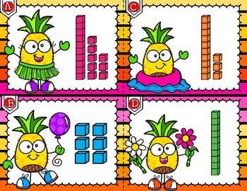 Pineapple Buddies Place Value Write the Room Kindergarten First