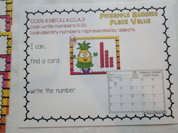 Pineapple Buddies Place Value Write the Room Kindergarten First READY TO PLAY