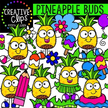 Pineapple Buds Clipart {Creative Clips Clipart}