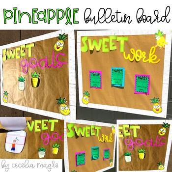 Pineapple Bulletin Board & Goals Writing Craftivity