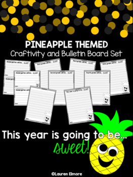 Pineapple Bulletin Board Set and Craftivity