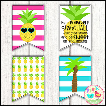 Pineapple Bunting Banner Decor