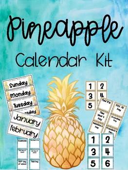 Pineapple Calendar Kit