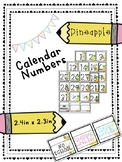 Pineapple Calendar Numbers