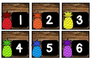 Pineapple Calendar Set