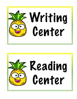 Pineapple Center Labels