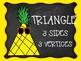 Pineapple Chalkboard Shape Posters
