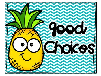 Pineapple Chevron Behavior Clip Chart