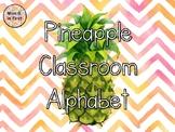 Pineapple Chevron Classroom Alphabet