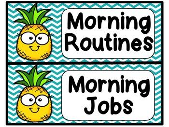 Pineapple Chevron Schedule Cards