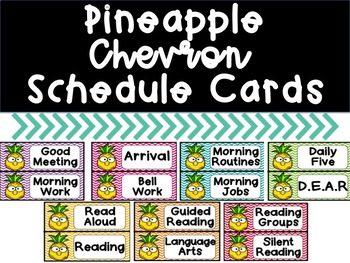Pineapple Chevron Schedule Cards
