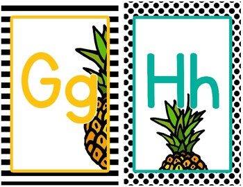 Pineapple Chic Collection: Alphabet Posters