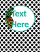 Pineapple Chic Collection: Binder Covers (Editable)