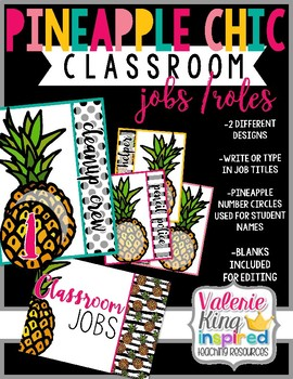 Pineapple Chic Collection: Classroom Jobs / Roles