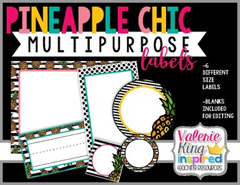 Pineapple Chic Collection: Multipurpose Labels