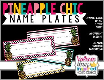 Pineapple Chic Collection: NamePlates