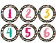 Pineapple Chic Collection: Number Labels