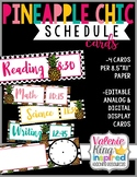 Pineapple Chic Collection: Schedule Cards/Signs