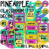 Classroom Decor (Pineapple POP Theme) *Editable*