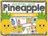 Pineapple: Classroom Decor Editable Bundle