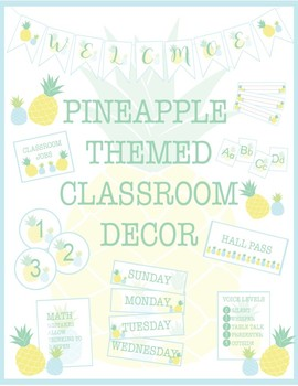 Pineapple Classroom Decor - All in One