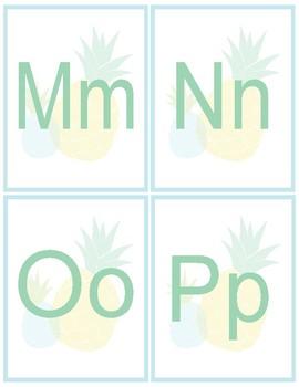 Pineapple Classroom Decor -  Alphabet