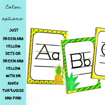 Pineapple Classroom Decor: Alphabet Posters