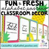 Pineapple Classroom Decor: Alphabet Posters