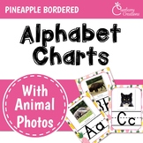 Pineapple Classroom Decor Alphabet Posters: Animal Photos