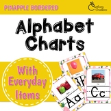 Pineapple Classroom Decor Alphabet Posters with Photos of Everyday Objects