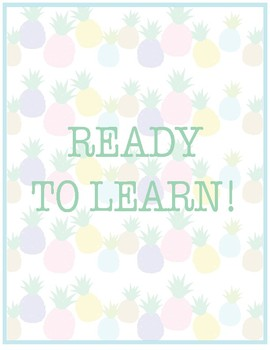 Pineapple Classroom Decor -  Behavior Chart