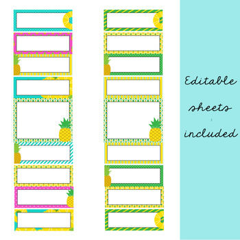 Pineapple Classroom Decor: Behavior Clip Chart and Reflection Sheets