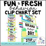 Pineapple Classroom Decor: Behavior Clip Chart and Reflect