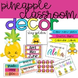 Pineapple Classroom Decor Bundle (editable!)