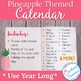 Pineapple Classroom Decor Calendar Set