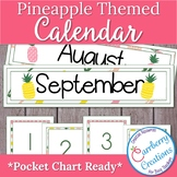Pineapple Classroom Decor Calendar Set