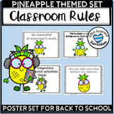 Pineapple Classroom Decor Class Rules Posters