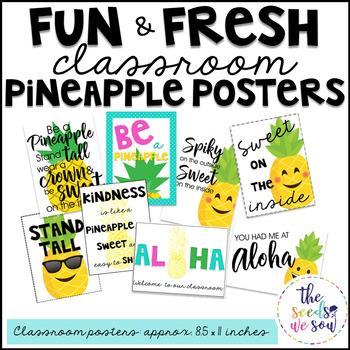 Pineapple Classroom Decor: Classroom Posters