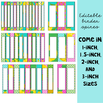 Pineapple Classroom Decor: Editable Binder Covers and Spines