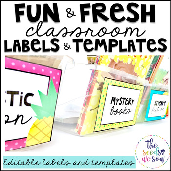 Pineapple Classroom Decor: Editable Labels and Templates by The ...