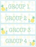 Pineapple Classroom Decor -  Group Labels