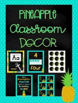 Pineapple Classroom Decor - Growing Bundle