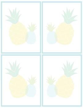 Pineapple Classroom Decor -  Hall Pass