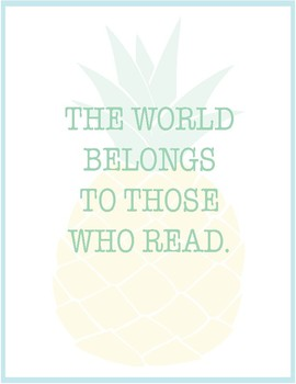 Pineapple Classroom Decor - Inspirational Quote Posters FREE