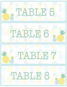 Pineapple Classroom Decor -  Name Tags & Table Labels