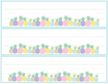 pineapple classroom decor name tags table labels by better in pairs