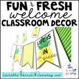 Pineapple Classroom Decor {Name Tags and Banner}