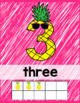 Pineapple Classroom Decor Number Posters