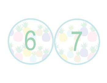 Pineapple Classroom Decor -  Numbers