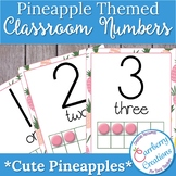 Pineapple Classroom Decor Numbers Posters